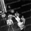 1957 basketball pre-game practice