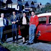 1958 Fred Ross, Dominic Famularo, Margaret Ann and Edmund Ackenback, Margaret Ackenback in car