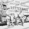 Tom Constantino on left, founder of Noteworthy Company, inventors of the Litterbag.