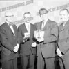 Probably 1963. L-R: ? , Rick Cetnar, John Varsoke, ? . Could be a basketball award for Rick.