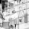 Downtown Halloween window decorating contest c. 1965