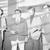 "Tony Barone opening campaign headquarters, 1975 (second from left). To Tony's left is his campaign manager Robert ""Pete"" Phelps."