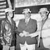 Tony Barone, center, running for mayor, 1975.Carlos ? and on the right Raymond Camacho