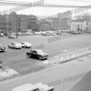 East side parking lot, Grove Street, now the upper parking lot of Riverfront Center, c. 1960. This is where Sen. John F. Kennedy spoke.