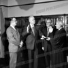 l-r James N. White, William J. Crangle, ?, Felix J. Aulisi. White was Assistant DA under Crangle, and succeeded him as District Attorney and County Court Judge and they each in turn succeeded Aulisi as Supreme Court Justice.