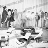 Bob Going (rgoing@yahoo.com) wrote about this photo on Aug 5th<br /> Cudmore/Wassell production of Damn Yankees, Lynch High School stage, early December, 1974. l to r, Gary Cudmore, Joe DeTura, Ervin Garcia, Cindy Putorti, Don Phillis, Walt Gustas, Norm Williams, Jim Deberry, Michael Olbrych, Bill Brzezicki (with bat), Judge Carusone, Jimmy Gonzales, Terry Krupa Jackson. There's also somebody standing behind Gustas who may very well be me.