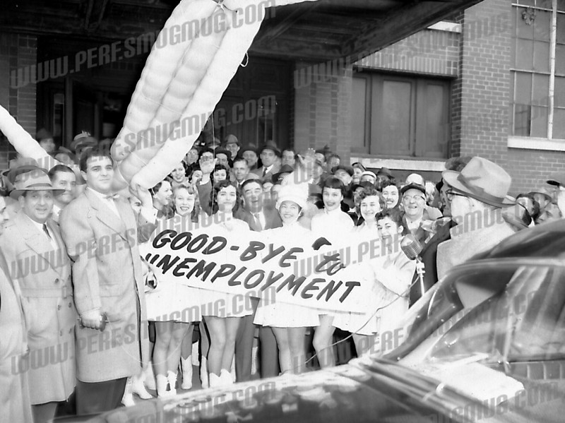 Bob Going (rgoing@yahoo.com) wrote about this photo on Nov 23rd<br /> <br /> See, all we needed was a few cheerleaders. c. 1955.