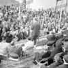 . Bob Going wrote about this photo on Sep 12th<br /> Nelson Rockefeller at Bishop Scully High, October, 1966. On platform to Rocky's right are Father Oathout, Father DeSantis, and Assemblyman Don Campbell. Dutch Howlan rear center. In front of Dutch and slightly to his left James E. Going, valedictorian and first graduate of Bishop Scully.