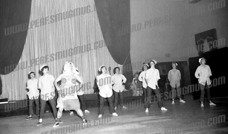 """Century Club, August,1965, """"Honeybun"""" scene from """"South Pacific"""", performed by Jerry Hazzard as Luther Billis, excerpted to drum up support for the Summer Recreation Department show directed by Bert DeRose and choreographed by Virginia Willoughby Noble"""