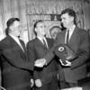 on right Don Campbell, center Hon. James White
