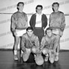 kneeling on right Walter ( Buzzy ) Machold, standing on left is Donald DeLos
