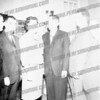 Welcoming Lt. Gov. Malcolm Wilson, center, (c. 1962) are Atty. Edgar Leonhardt, Amsterdam Mayor Frank Martuscello, ?, (Wilson), Assemblyman and Montgomery County Republican Chairman Donald Campbell and ?
