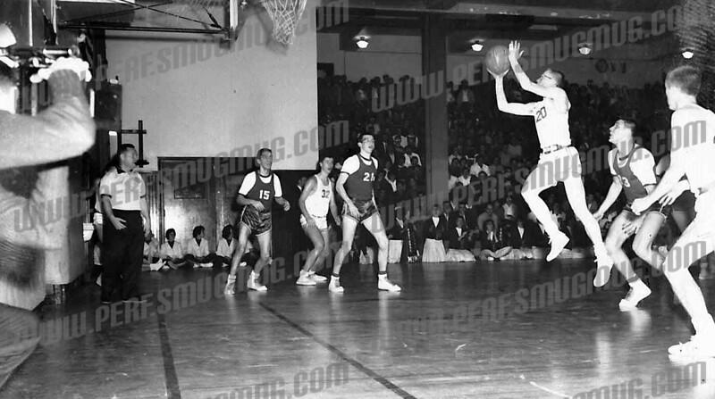 Rick Cetnar (20), Tim Kolodziej (32) in a game in 1962 or 63.