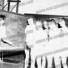!961-1962 AHS basketball season. Coach John Varsoke at board. L-R: Phil Schuyler, Rick Cetnar, Gary Blongewicz, Tom Urbelis, Tim Kolodziej.
