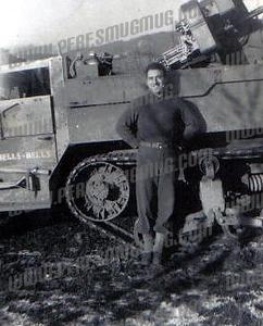 Marc Palombi and halftrack Hells Bells, France 1944