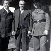 John Zabelski on the left with his father John senior center and brother Thomas right during World War II.