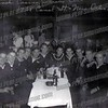 Crew members of LST 288 sit around a table at the French Casino Club at 1428 Canal St. in New Orleans. John Zabelski is sitting in the center at the far end of the table. This was late 1943 or early 1944 before LST 288 left to serve during the D-Day Invasion of Europe.