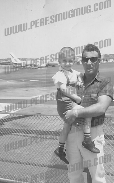 Me and my Dad at Albany Airport, July 1964
