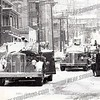 w martin wrote about this photo on Sep 20th;<br /> <br /> Eng #5 & #6 twin 1950 Ward LaFrance pumpers at 16-22 Schuyler St. Feb 1, 1955 Deadlest fire in Amsterdam history