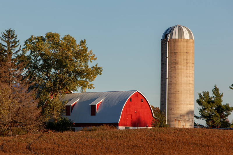 A Wisconsin Barn And Silo