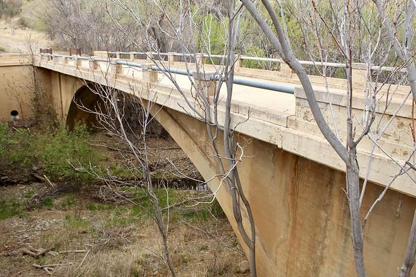 Historic Lynx Creek bridge, constructed in 1922 (2018)