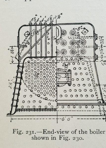 End view of Yarrow torpedo boat boiler