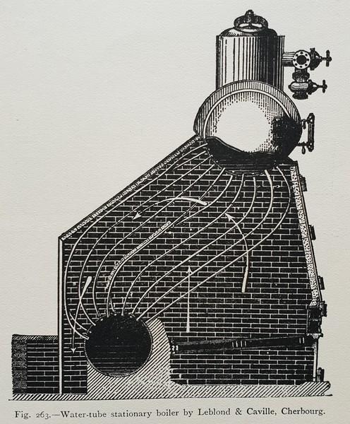 Watertube boiler by Leblond & Caville, Cherbourg