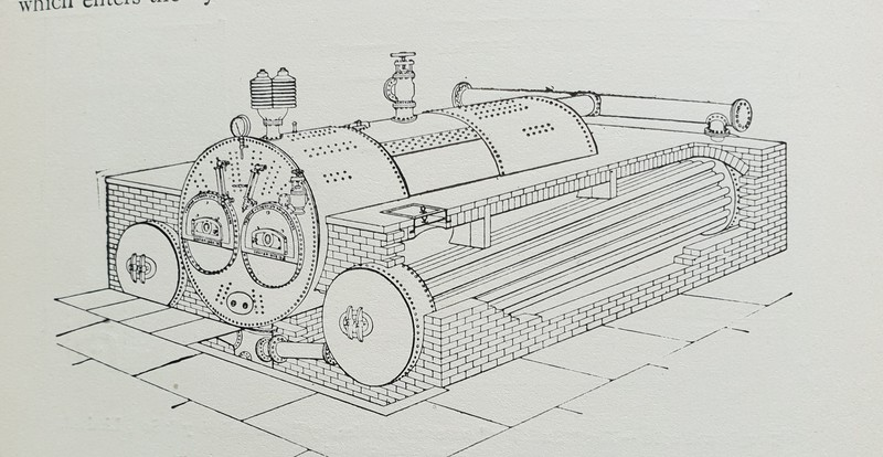 A combined cylindrical and watertube boiler by Thomas Hudson of Coatbridge