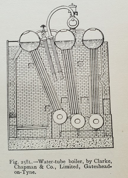 Six drum Boiler by Clark Chapman, Gateshead-on-Tyne
