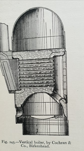 Vertical boiler by Cochran of Birkenhead