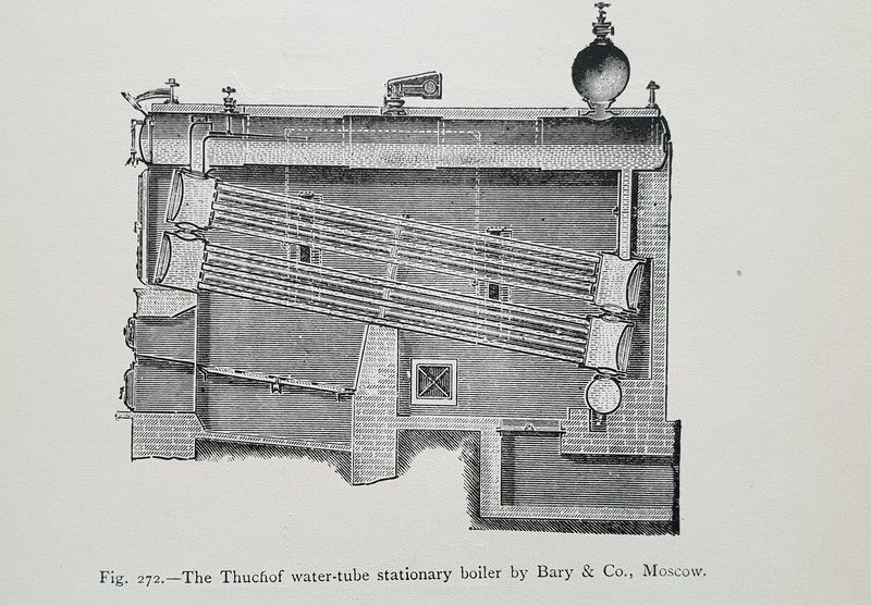 Thatchof boiler by Bury & Co, Moscow.
