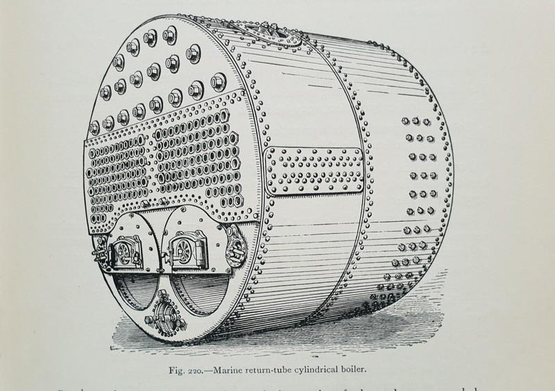 Marine return tube boiler