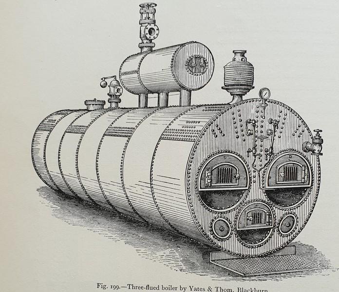 Three flue boiler by Yates & Thom, Blackburn