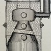 Vertical cross-tube boiler with special firebox