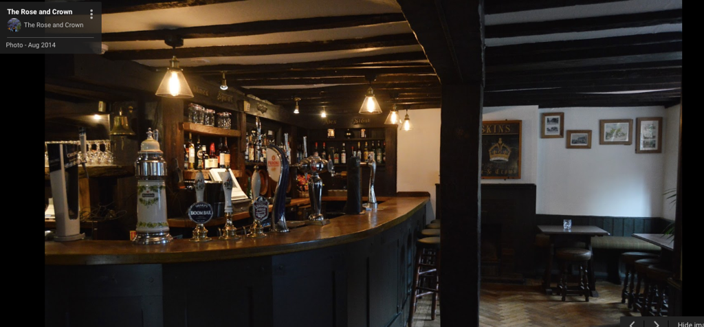 INTERIOR OF ROSE AND CROWN, HAREFIELD