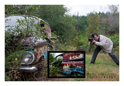 """Snap Shot""  I was shooting this photo when Ms. Kelli Lewis took my photo.  Old Car City in White Ga.  Background Photo By: Ms. Kelli Lewis Insert Photography By:Lloyd R. Kenney III © 2013 All Rights Reserved. Email: LloydKenneyiii@gmail.com"