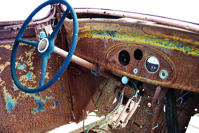 Old 34 Ford hot rod interior