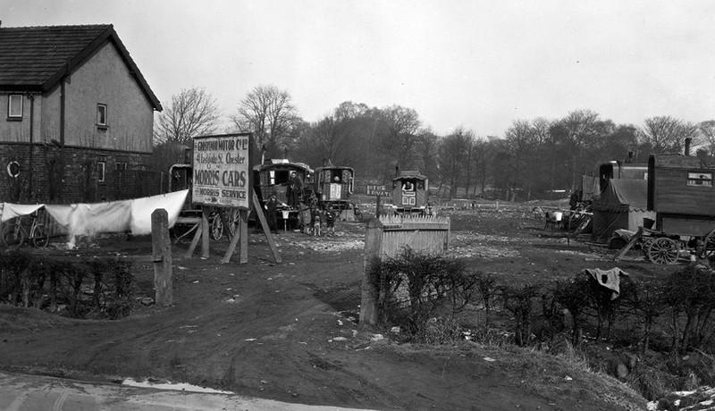 Parkgate Road; Gypsy encampment; 1920s
