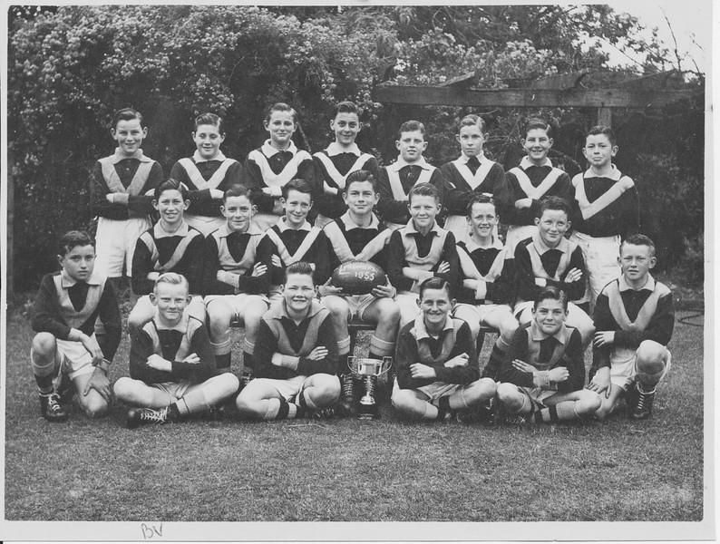 Footy team-Marcellin 1955