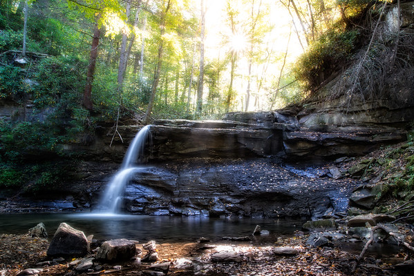 Oct 11 - Holly River State Park, upper falls<br /> <br /> not much water but still pretty