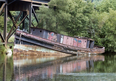Old Boat in canal 8-14-77 002A