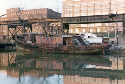 Old Boat in canal 2-12-75 005A