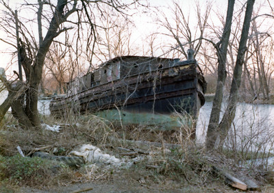 Old Boat in canal 1-22-76 004A