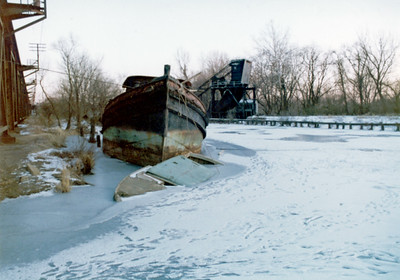 Old Boat in canal 1-19-77 001A