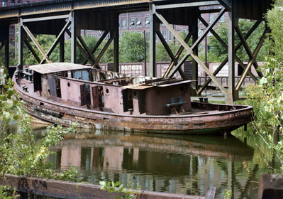 Old Boat in canal 8-14-77 003A