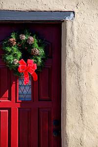 """""""Wreath on Red Door"""""""