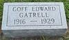 Goff Edward Gatrell Headstone