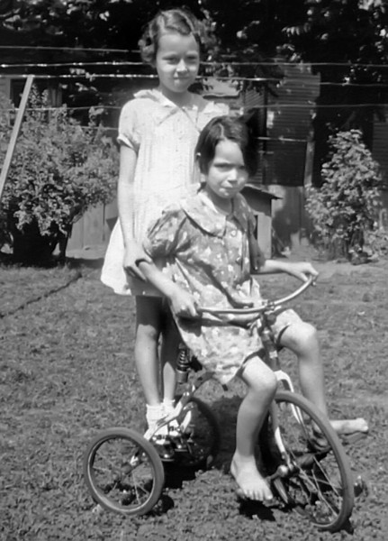 L-R...JOANN MONTGOMERY AND BETTY MONTGOMERY IN 1937.