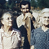Dora Marlow  with son Buddy Marlow  and sister Louisa Hoover circa 1947. (left to right)
