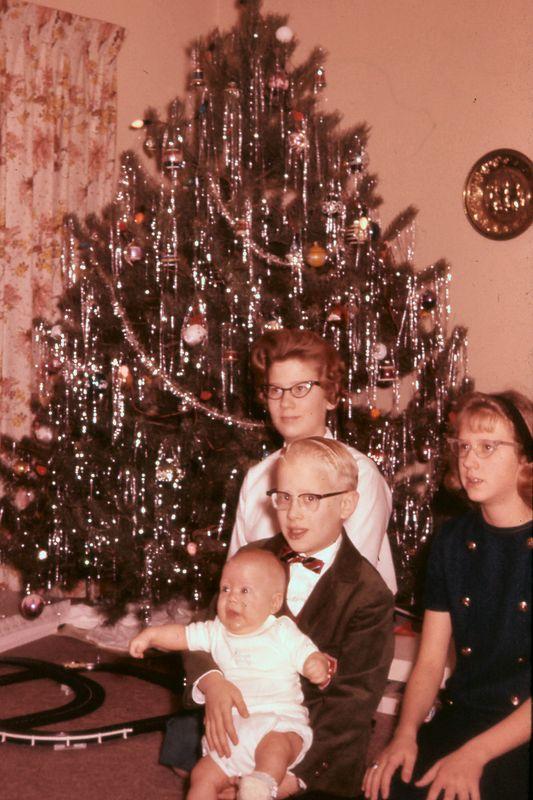 Janice, Judy, Wally, and Scott<br /> Christmas, 1963